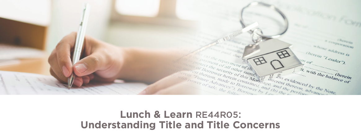 Lunch & Learn: Understanding Title & Title Concerns